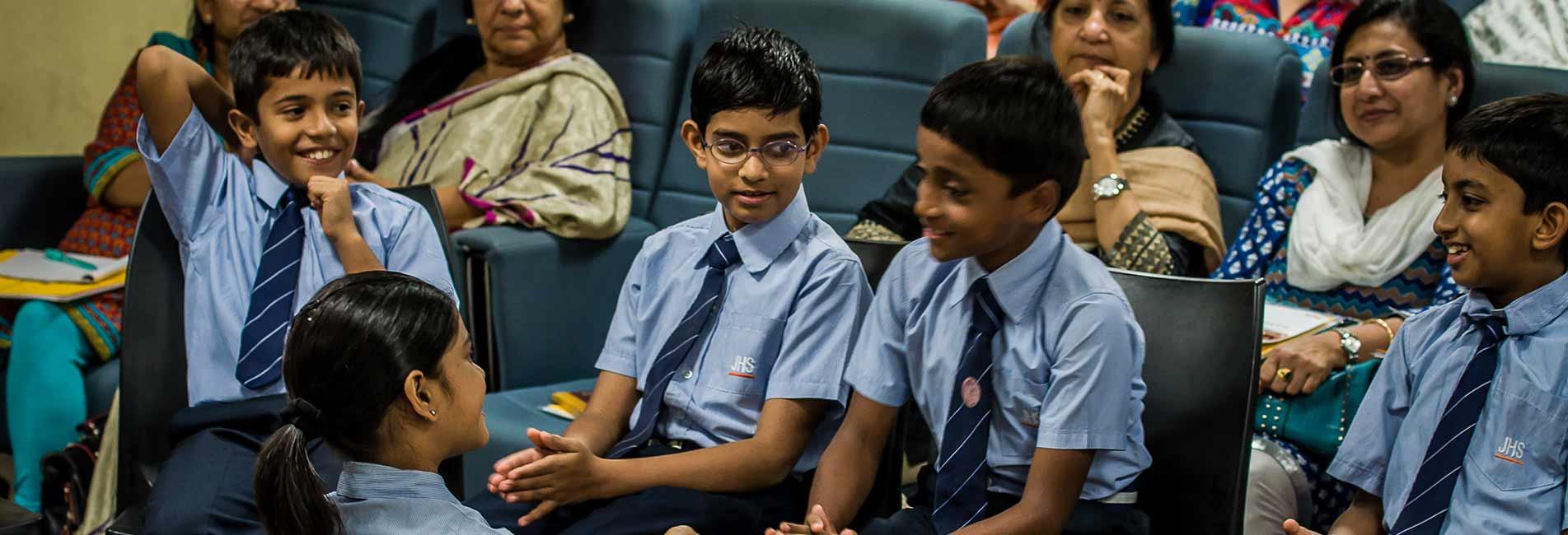 Cheerful classroom interactions